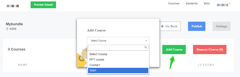addingCourse