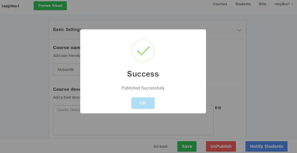 successfulPublish