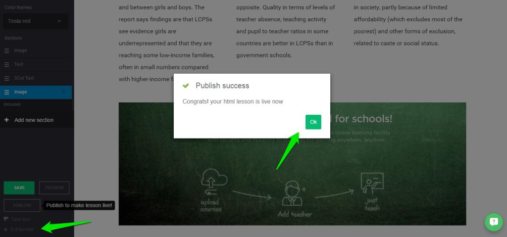 publish HTML lesson