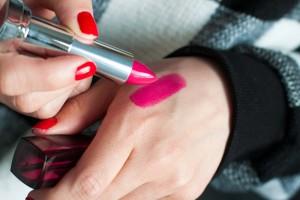 testing of lipstick