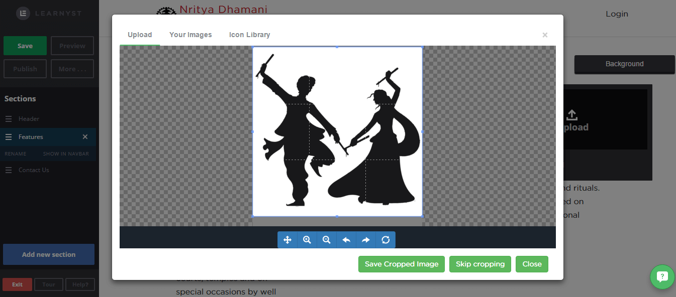 image cropped to optimize - Learnyst website builder