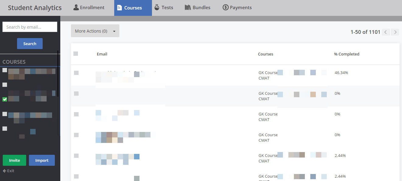 On top panel you can select the required report