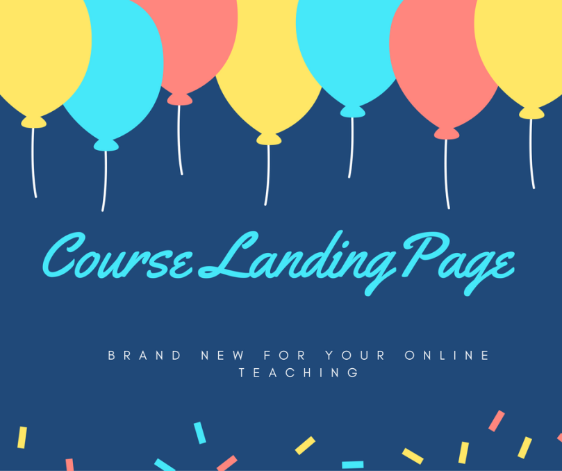 brand new course landing page