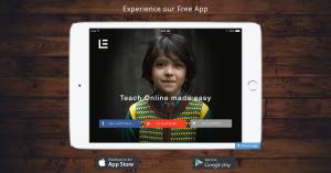 learnyst app promo on tab