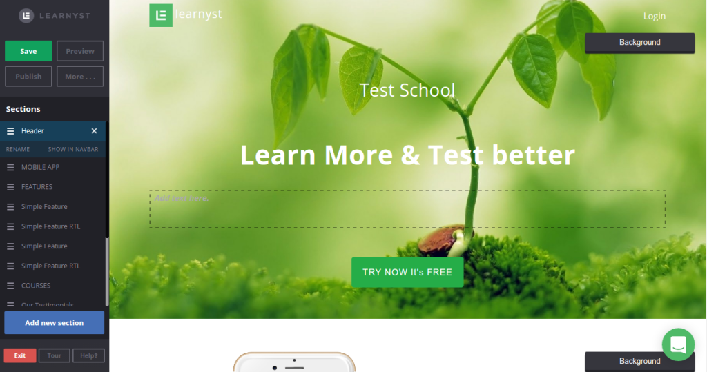 learnyst site builder
