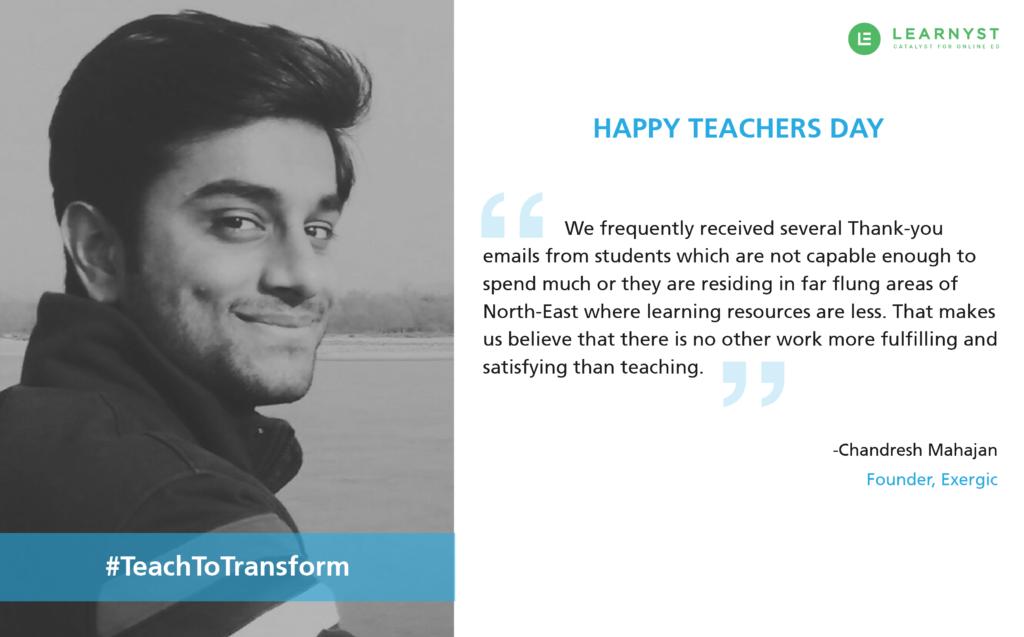 Chandresh Mahajan, #teachtotransform