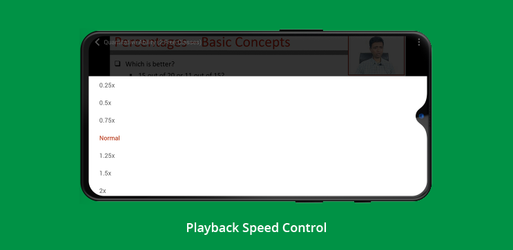 playback speed feature in learnyst video player