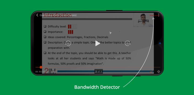 bandwidth detector feature