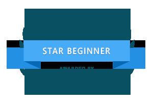 star beginner awarded by softwaresuggest