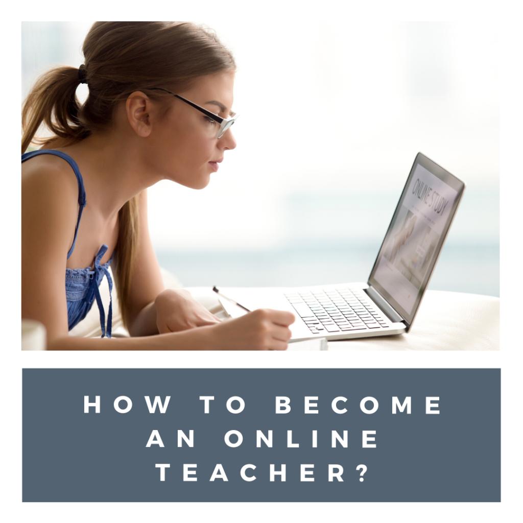 how to become an online teacher?