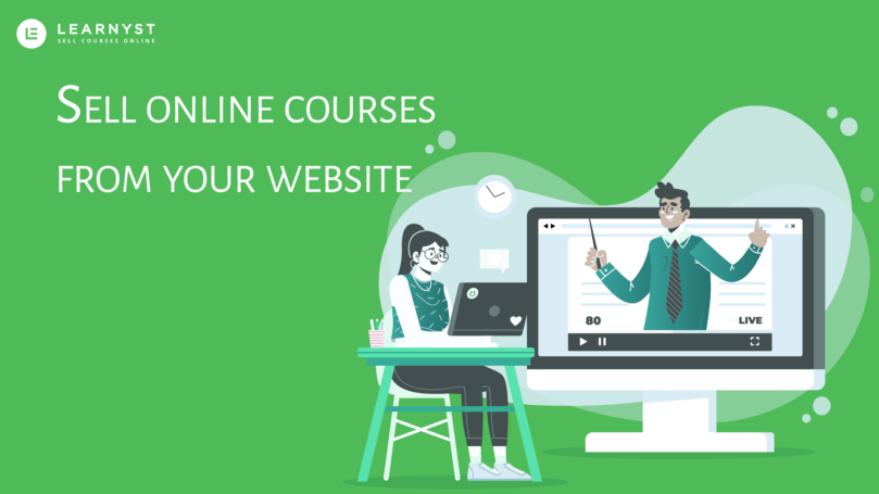 Sell online courses from your own website